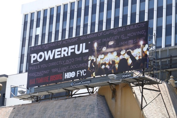 Baltimore Rising Emmy FYC billboard