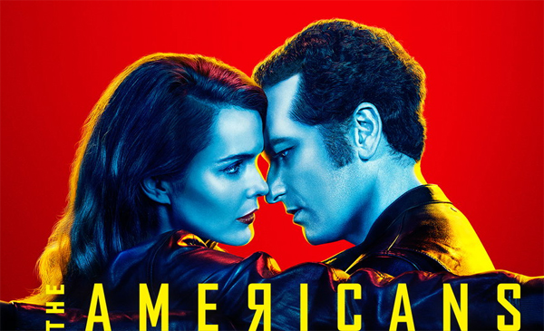 promotional image for 'The Americans' featuring Keri Russell and Matthew Rhys