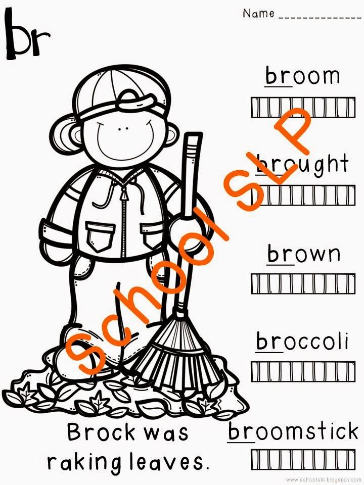 School SLP: Color Me Articulation: r-blends!