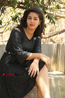 Telugu Actress Pavani Latest Pos in Black Short Dress at Smile Pictures Production No 1 Movie Opening  0031.JPG