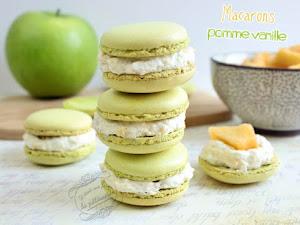 Macarons pomme vanille