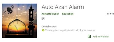 Auto Azan Alarm
