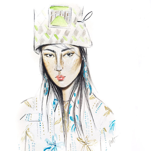 prada look sketch
