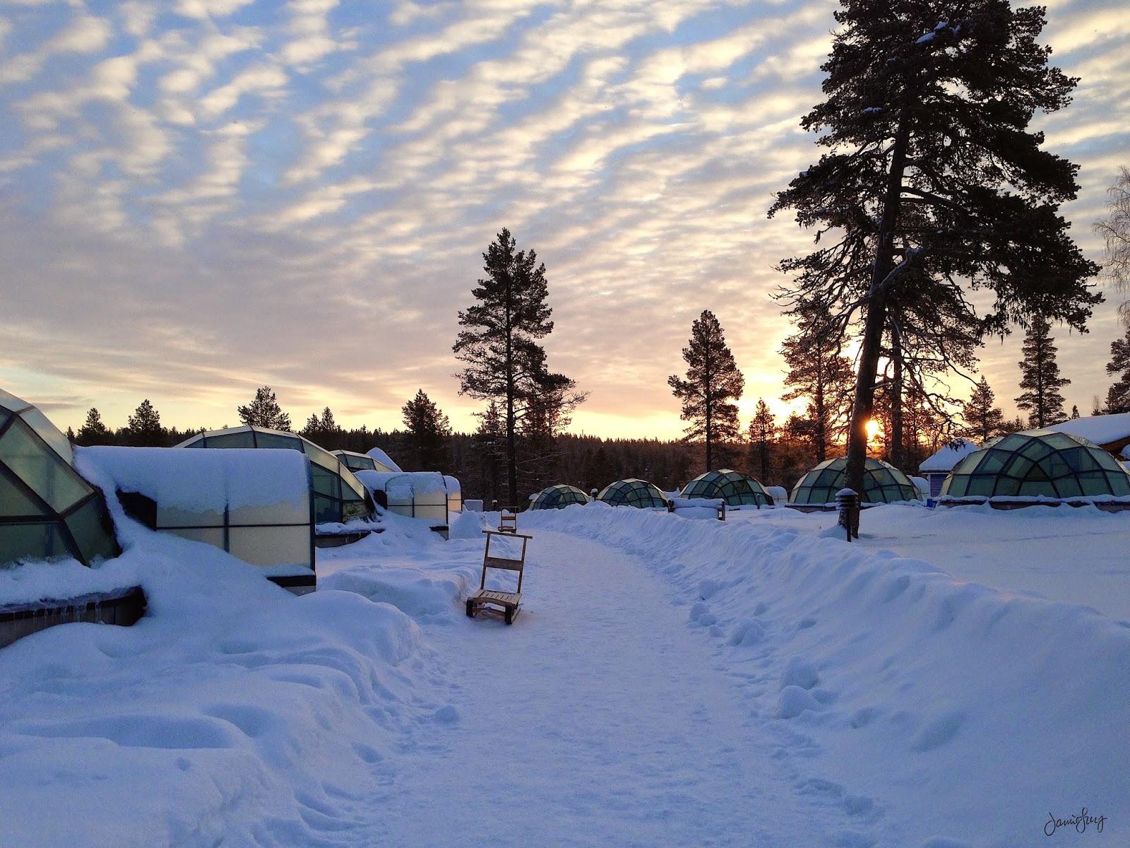 Sunrise, Glass Igloo, Kakslauttanen, Finland