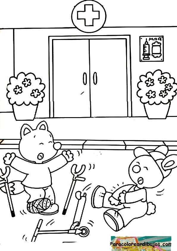 Dibujos De Accidentes De Transito Para Colorear Dibujos