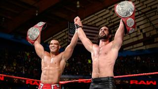 WWE - Seth Rollins se une a un Jason Jordan histórico para levantar los títulos por pareja de RAW