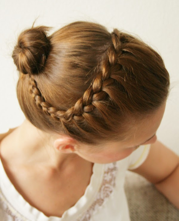 DIY Braided Headband Updo Hairstyle