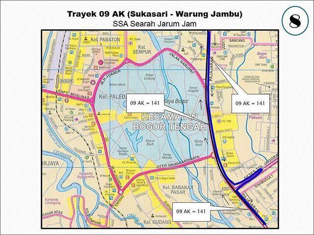 Rute Angkot Sukasari-Warung Jambu