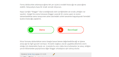 demo download butonları