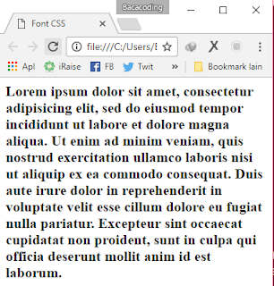 Font Weight pada CSS