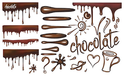 vectores de chocolate