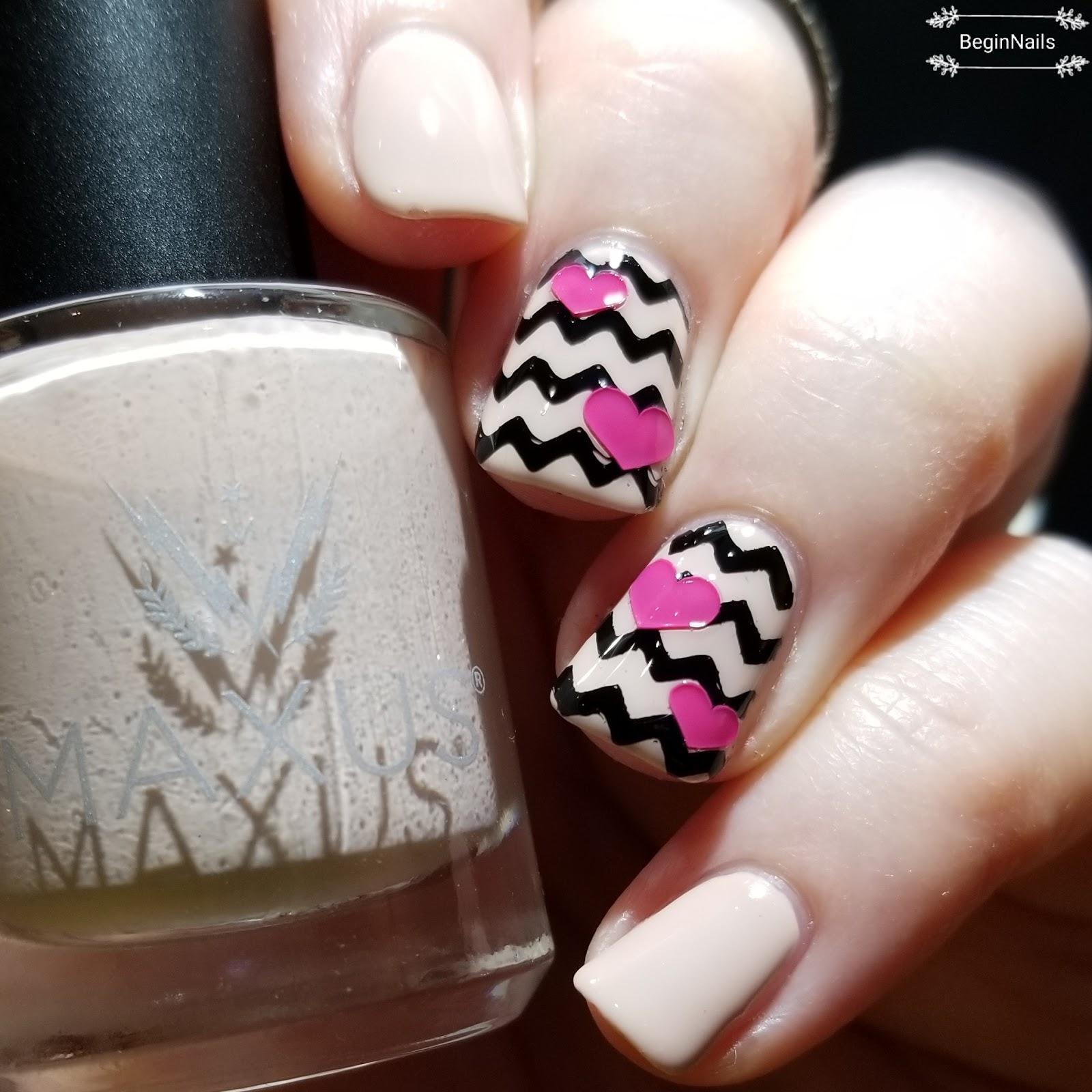 Let\'s Begin Nails: Valentine\'s Day Nail Art Using MAXUS Nails