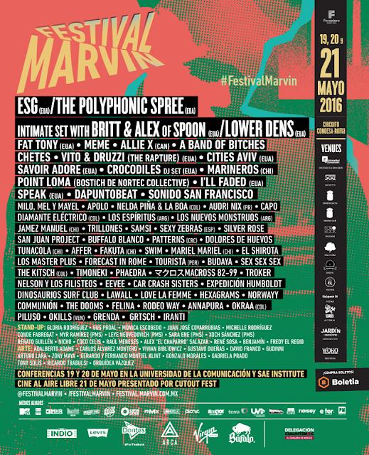 sexta edición del Festival marvin