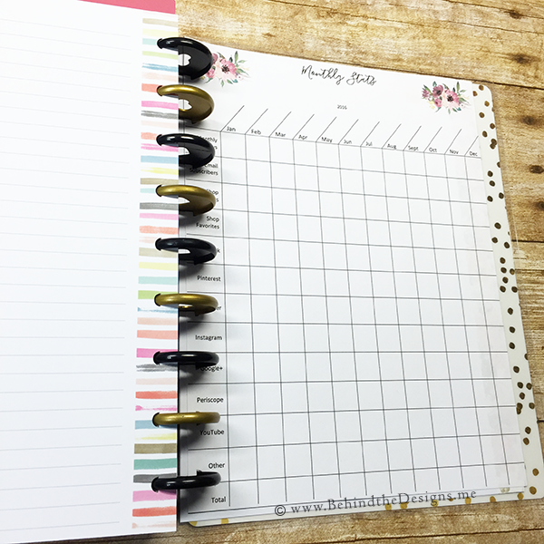 Tracking Your Blog Statistics in Your Happy Planner | Behind the Designs DIY Craft and Planning Blog