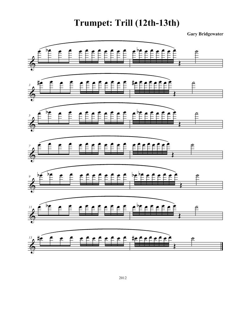 Trumpet: Trumpet: Trill (12th-13th)