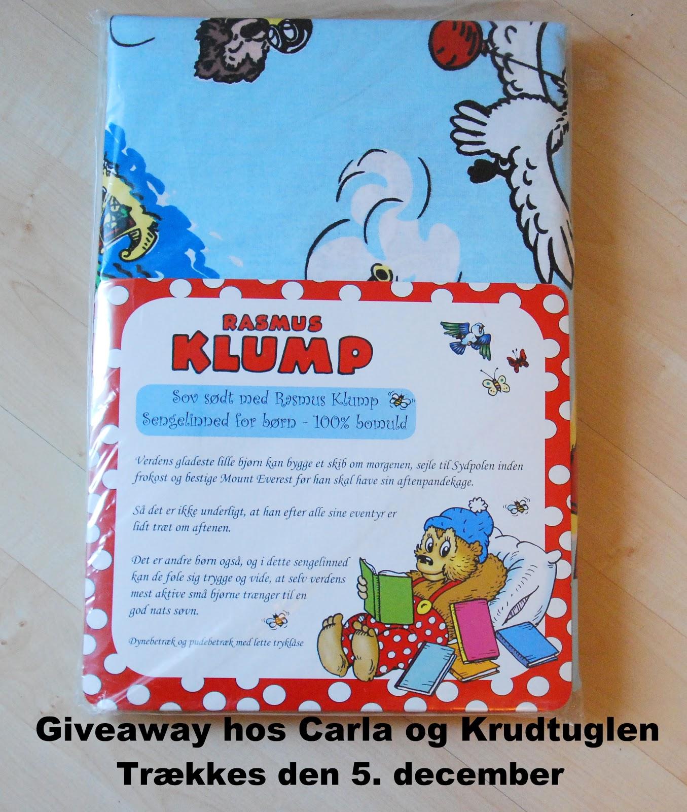 rasmus klump sengetøj Carla og krudtuglen: Giveaway med Rasmus Klump rasmus klump sengetøj