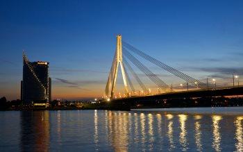 Wallpaper: Riga Night Lights