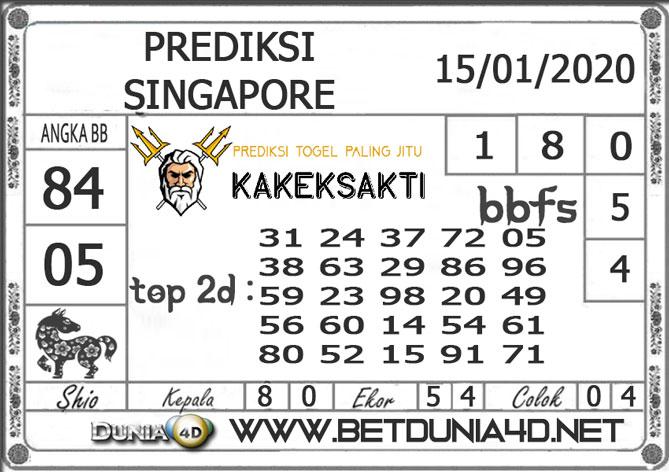 PREDIKSI TOGEL SINGAPORE DUNIA4D 15 JANUARI 2020