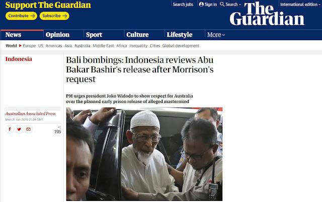 Tersingkap Alasan Baasyir Gagal Bebas karena Permintaan untuk Menghormati Australia