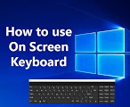 On screen keyboard in windows10