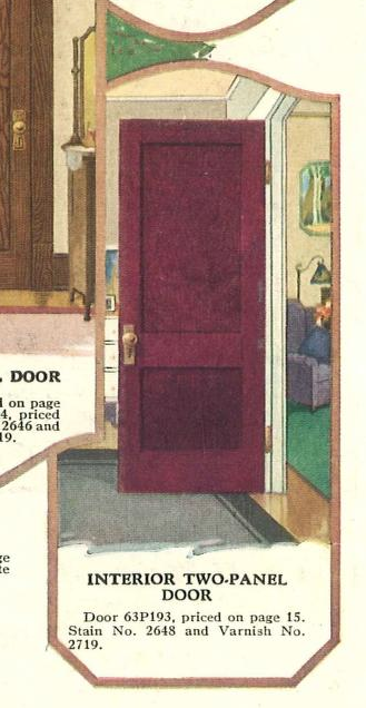 page from 1929 Sears Building Materials catalog showing 2 panel door