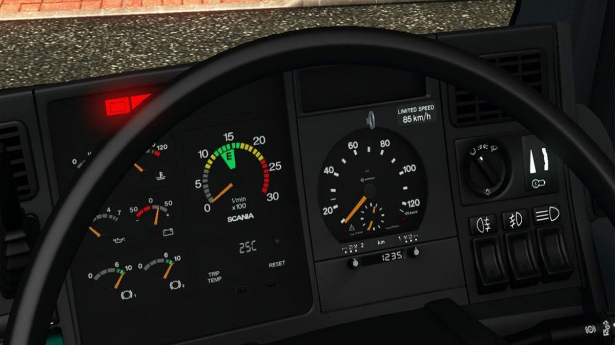 Gauges for Scania 4 Series