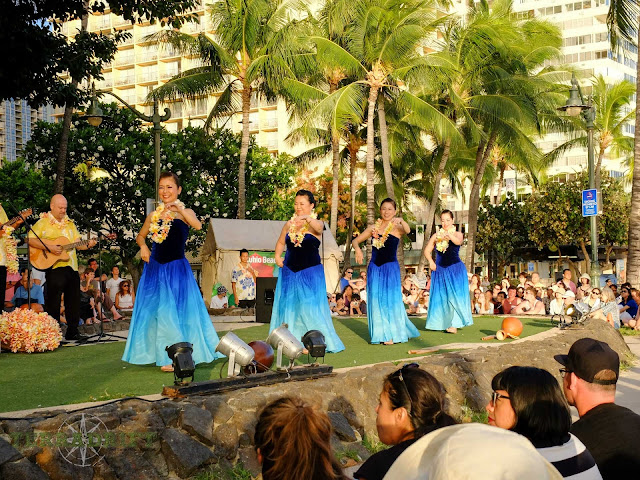 Free hula shows happen several times a week in Waikiki