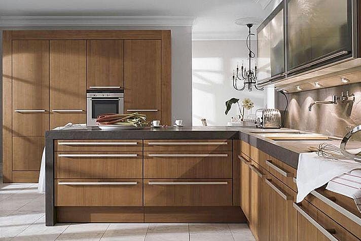 Decora y disena cocinas modernas fotos for Muebles de madera para cocina pequena