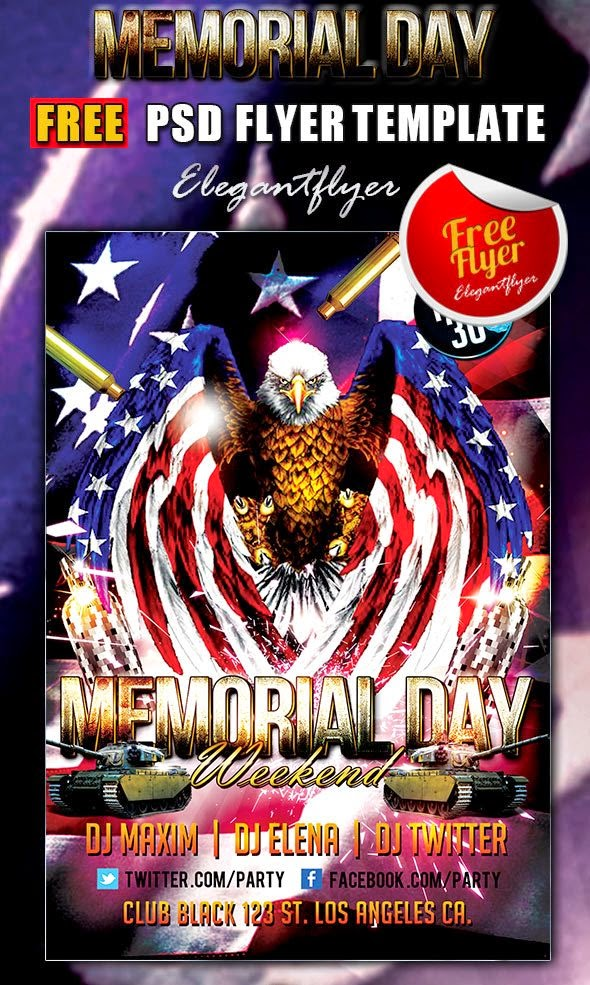 Memorial Day Weekend Free Flyer Template