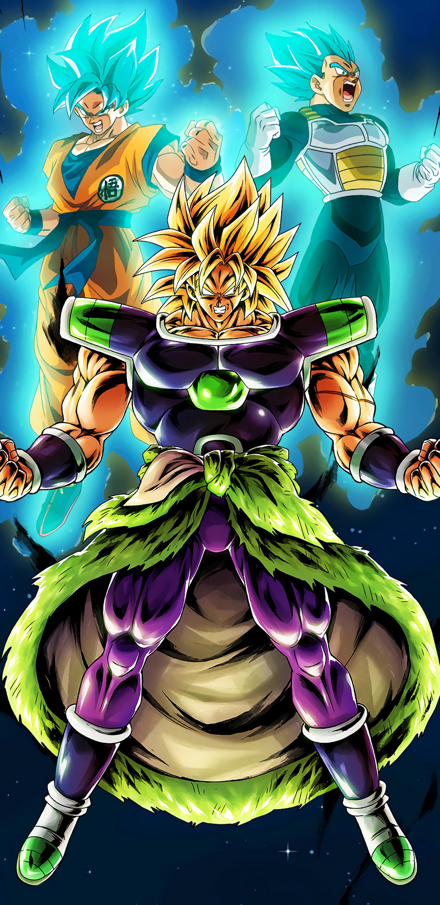 Broly Goku Vegeta Dragon Ball Super Broly 8k 7680x4320