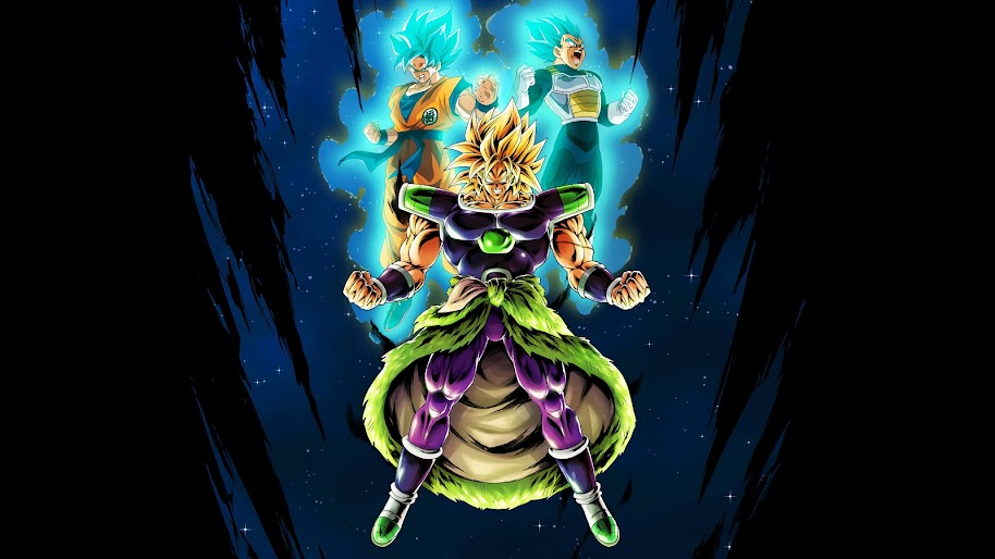 Broly Goku Vegeta Dragon Ball Super Broly 8k Wallpaper 10