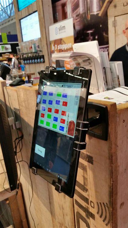 適用pos進銷存系統的平板電腦防盜架,平板電腦展示陳列防盜鎖立架