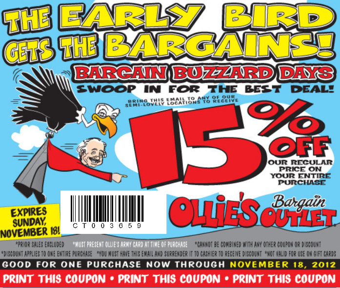Ollies coupon code