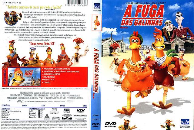 Capa DVD A FUGA DAS GALINHAS