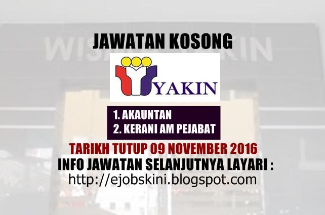 Jawatan Kosong di YAKIN November 2016