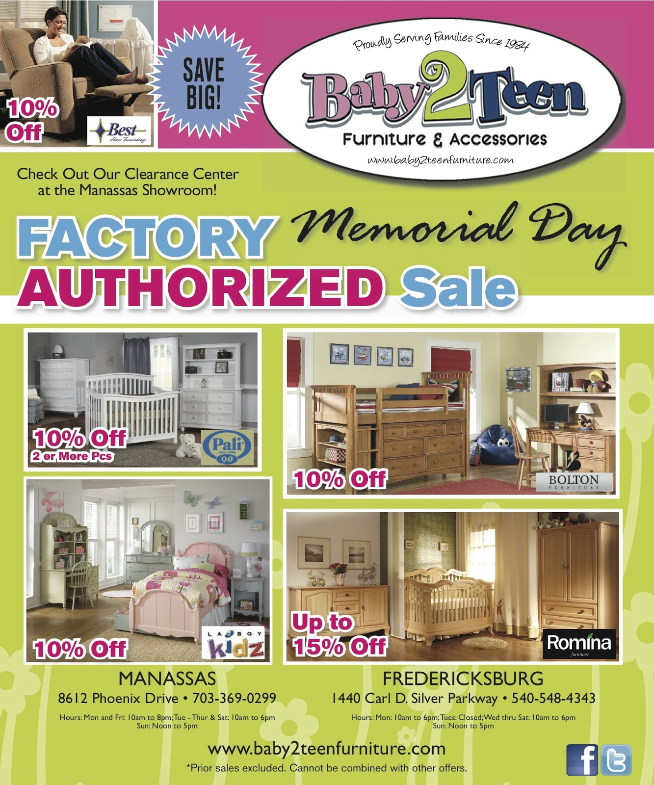 Furniture Store Memorial Day Sale