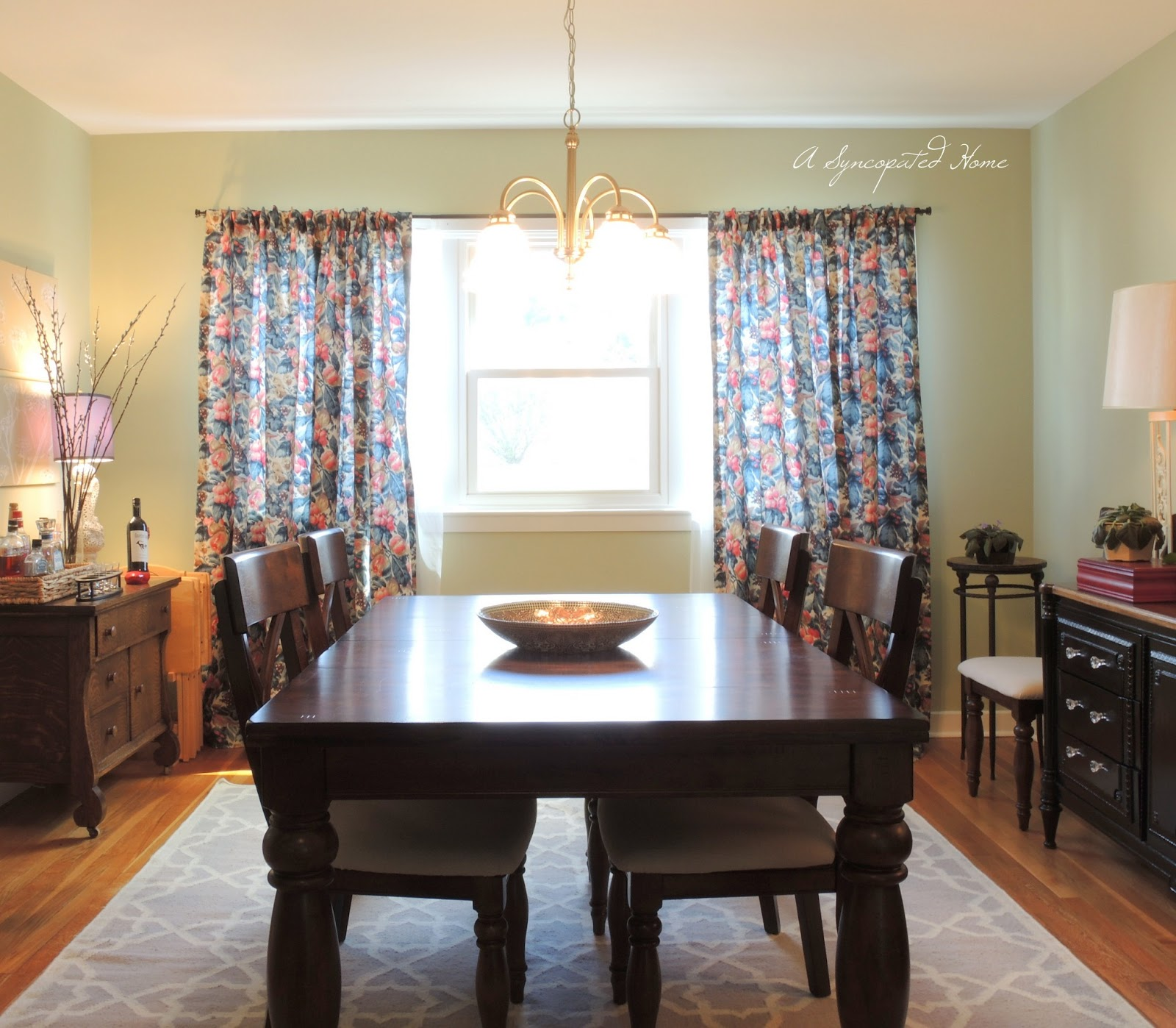 Ive Already Shared With You My DIY Ombre Watercolor Art And Invitations Today Im Going To Share Dining Room Curtains