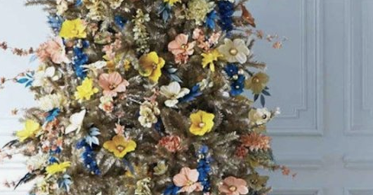 Lovely Floral Decorated Christmas Trees This Season Over Traditional Look