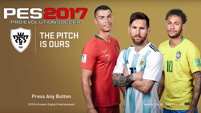 World Cup 2018 Russia Start Screen PES 2017