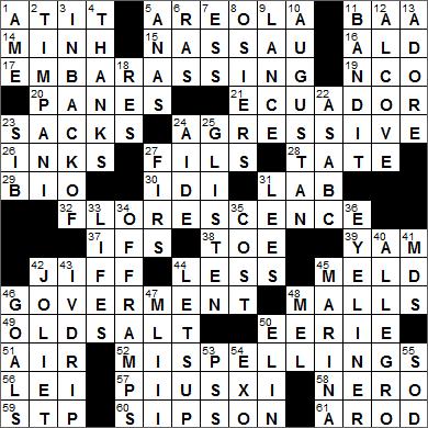 Web S L A Times Crossword Solution Laxcrossword Com La