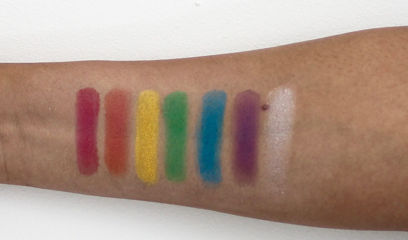 Row 2 full spectrum palette swatches