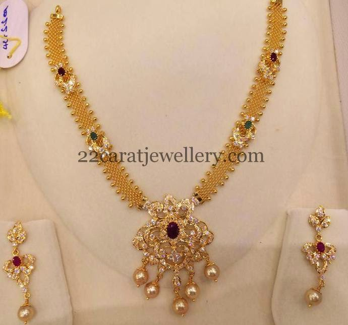 Simple Mesh Chain Necklace 40gms Jewellery Designs