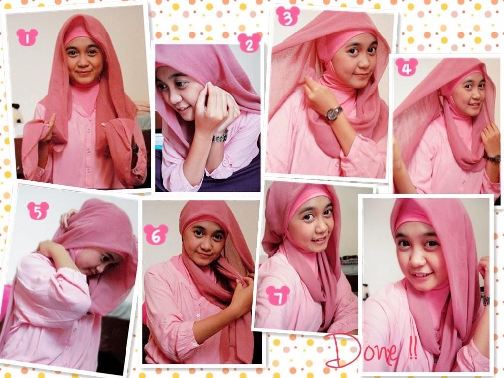 2 Kumpulan Gambar Tutorial Hijab Segi Empat Modern Terlengkap Update Stylish Hijab