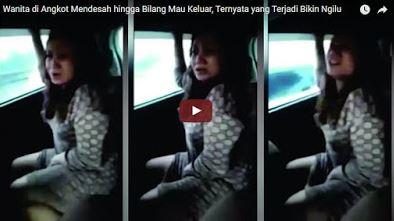 Wanita Ini Menjepit Kedua Kakinya Begitu Sangat Kencang, Menangis, dan Mend3sah di dalam Angkot, Tak diduga Ternyata Ia Hanya Ingin...