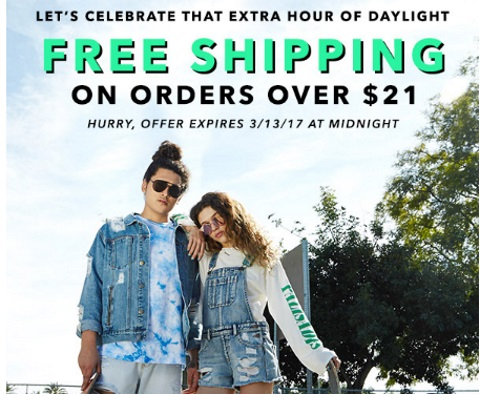 Forever 21 Free Shipping On Orders Over $21