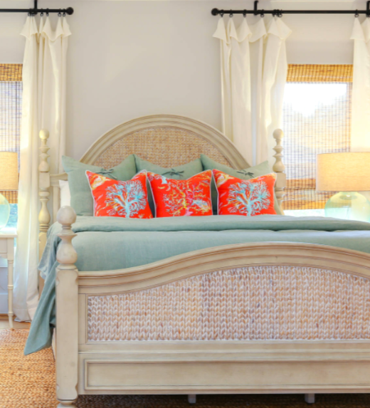 Coastal Coral and Blue Bedding Ideas