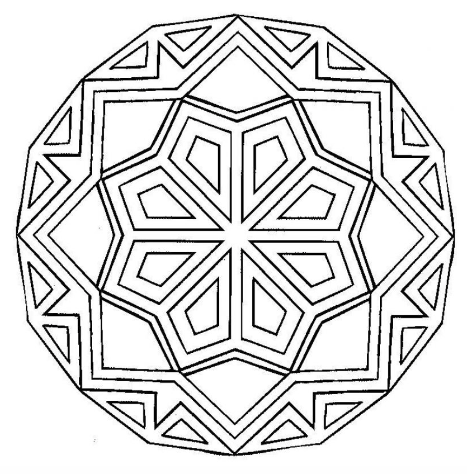 frieda louise: Radial Symmetry Mandala Lesson