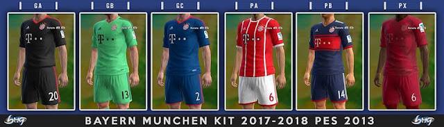FC Bayern München Kit 17-18 PES 2013