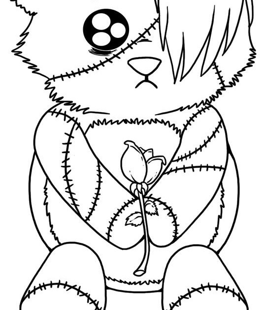emo bear coloring pages | Emo Love Coloring Pages >> Disney Coloring Pages