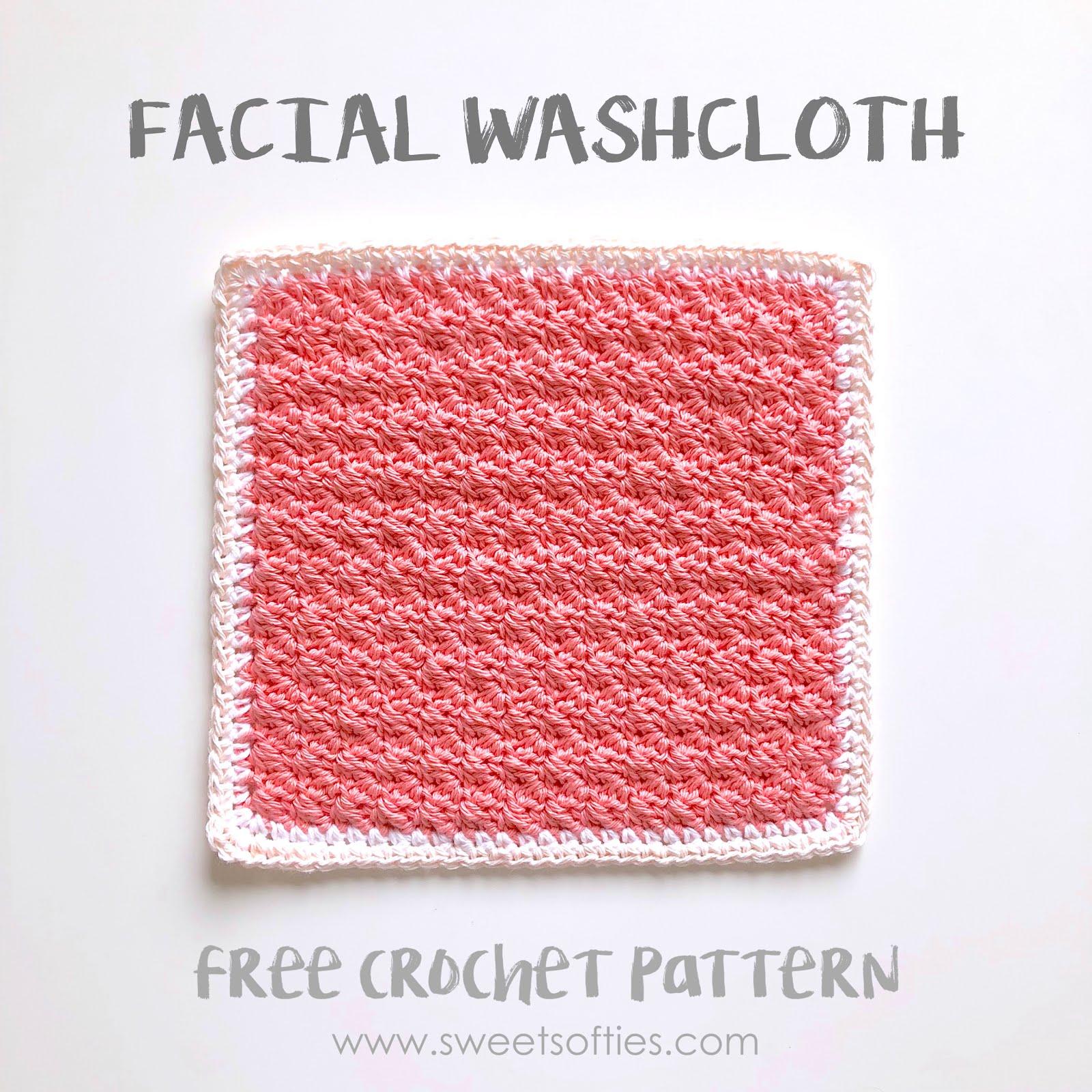 Facial Washcloth Free Crochet Pattern Tea Rose Spa Set Part 4